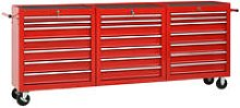 Youthup - Tool Trolley with 21 Drawers Steel Red