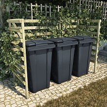 Youthup - Triple Bin Shed Green 210x80x150 cm