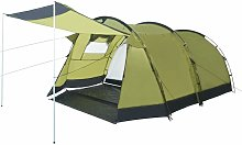 Youthup - Tunnel Camping Tent 4 Person Green