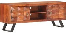 Youthup - TV Cabinet 122x30x49 cm Solid Acacia Wood