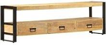 Youthup - TV Cabinet 150x30x45 cm Solid Mango Wood