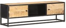 Youthup - TV Cabinet with Carved Door 130x30x40 cm
