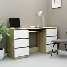 Youthup - Writing Desk White and Sonoma Oak