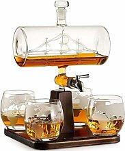 YOUXD Scotch Whiskey Decanter, White Wine Decanter