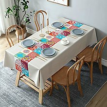 YOUYUANF tablecloth Linen look rectangular