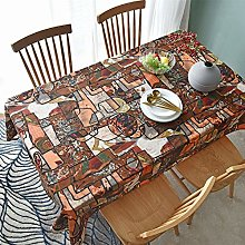 YOUYUANF tablecloth Square cleaned linen