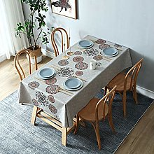 YOUYUANF tablecloth Tablecloth washable cotton