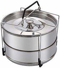 YOUZHI Pot Stainless Steel Stackable Steamer,
