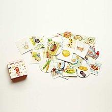 YOUZHIXUAN Fridge Magnet Foods Pattern Cartoon