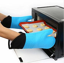YOUZI Blue bevel Oven gloves Heat resistant