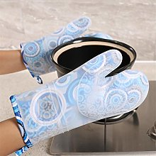 YOUZI Blue circle Oven gloves Heat resistant