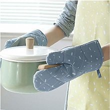YOUZI Blue dots Oven gloves Heat resistant