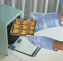 YOUZI Blue fish Oven gloves Heat resistant