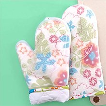 YOUZI Blue flower Oven gloves Heat resistant