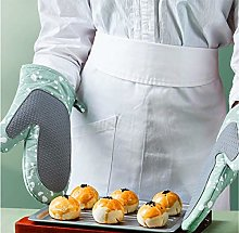 YOUZI blue Oven gloves Heat resistant