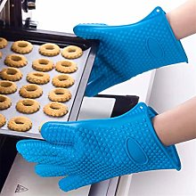 YOUZI Blue silicone Oven gloves Heat resistant
