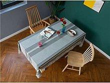 YOUZI Gray cotton and linen table cloth Home