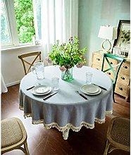 YOUZI gray Round tablecloth diameter 200cm