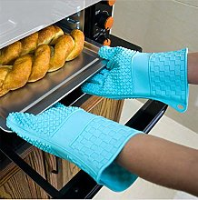 YOUZI Light blue Oven gloves Heat resistant