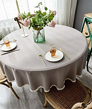 YOUZI Light coffee Round tablecloth diameter 200cm