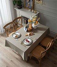 YOUZI rectangle tablecloth, Khaki Cotton Linen