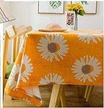 YOUZI Rectangle tablecloth, wipeable, Sun Flower