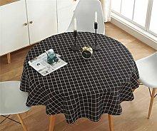 YOUZI Round tablecloth, wipeable, Erasable
