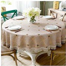 YOUZI Round tablecloth, wipeable, European floret