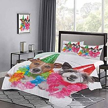 Yoyon Quilt Cover Set Baby Dogs Terriers with