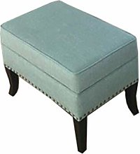 YQ WHJB Contemporary square pouf, linen footstool,