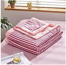 YQCX Air Condition Thin Stripe Summer Cool Quilt
