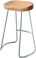 YQCX Bar Chair Home Solid Wood High Stool Fashion