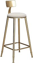 YQCX Bar High Stools Barstools with Back Rest for