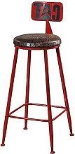 YQCX Bar Stool Vintage Bar High Stools Iron