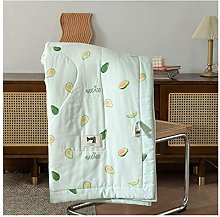 YQCX Gauze Cotton Plaid Quilt Thin Quilted Throws
