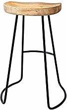 YQCX Modern Minimalist Bar Chair Wrought Iron