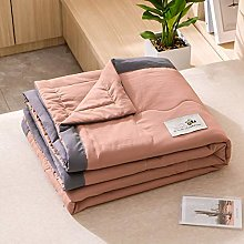 YQCX Summer Cool Quilt,Solid Color Double Single
