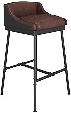 YQCX Vintage Chair, Old Wrought Iron Bar Stool,