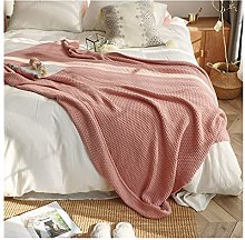 YQDSY All Cotton Knitted Nordic Sofa Blanket Cover