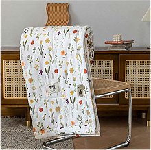 YQDSY Gauze Cotton Plaid Quilt Thin Quilted Throws