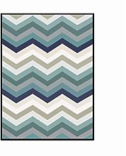 YQDSY Nordic Style Blue Wave Pattern Carpets for