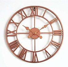 YQG Wall clock retro Roman numerals round wall