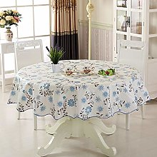 YQHWLKJ Waterproof Tablecloth Oily Round