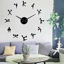 YQMJLF Wall Clocks Large DIY 3D Frameless Wall