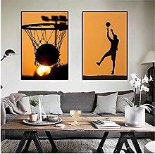 YQQICC Basketball Dream Poster Print Wall Art