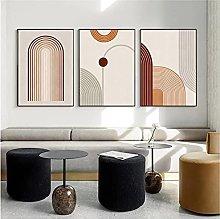 YQQICC Boho Abstract Geometric Posters Print Wall