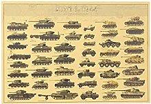 YQQICC Classic Tank Poster Print Wall Art Canvas