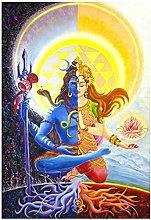 YQQICC Hindu Poster Print Wall Art Canvas Painting