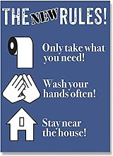 YQQICC Isolation Rules Poster Print Wall Art