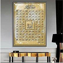 YQQICC Muslim Calligraphy Poster Print Wall Art